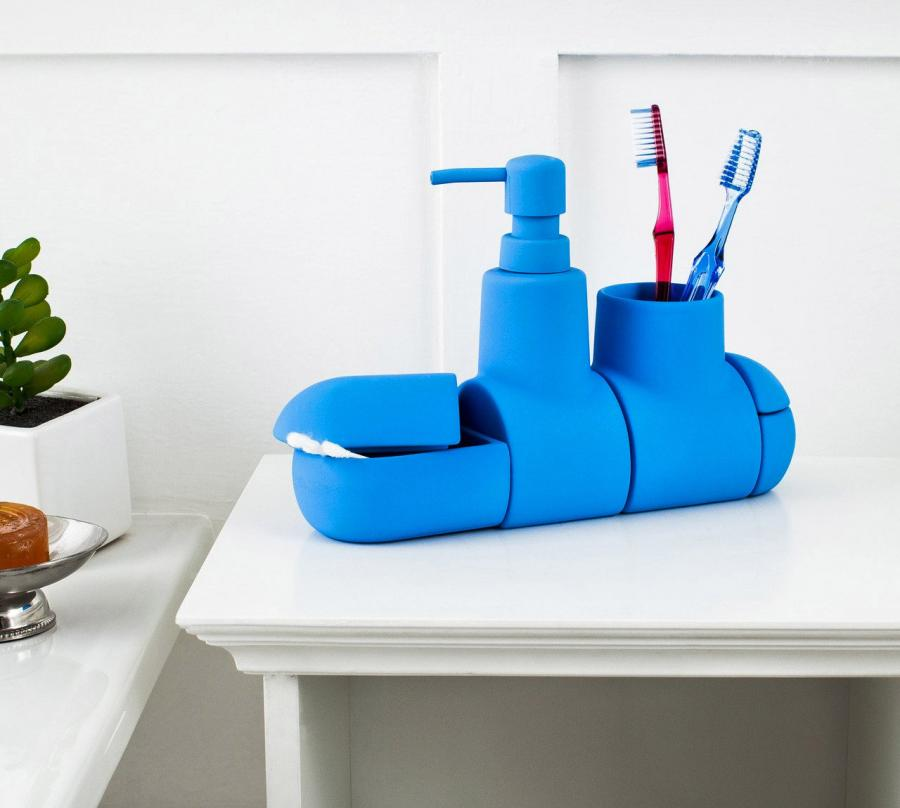 Submarine Toothbrush Holder And Bathroom Set Enlarge Image