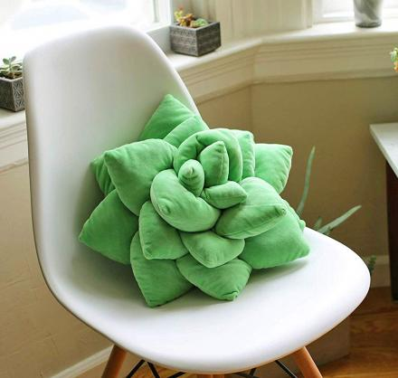 This Succulent Cactus Decor Pillow Will Give Any Room Some Natural Charm