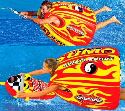 Sumo Tube: A Wearable Inflatable Tube Lets You Body Surf and Ride Waves