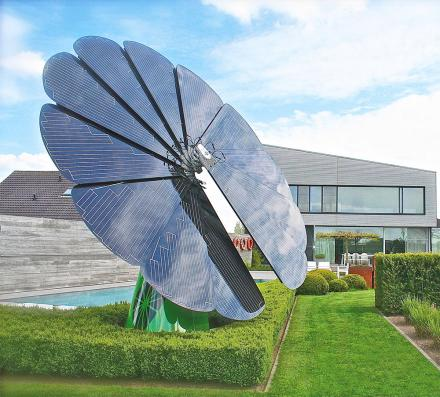 Sun-Tracking Smart Flower Shaped Solar Power Solution