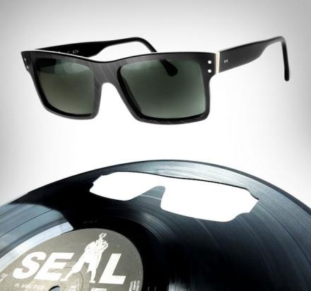 Sunglasses Made From Old Records