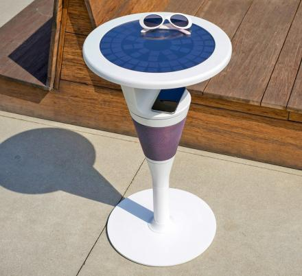 SunTable Is a 3-in-1 Solar Powered Table With an Integrated Speaker and Wireless Charger