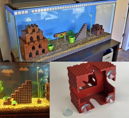 Super Mario Aquarium Pieces Let You Build Your Own Mario Level In Your Fish Tank