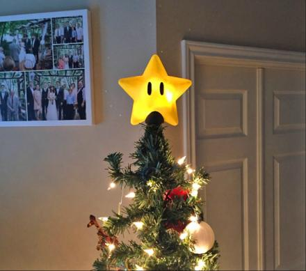 Every Super Mario Geek Probably Needs This Power Star Christmas Tree Topper