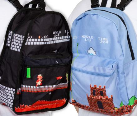 Super Mario Bros Reversible Backpack Turns From Daylight To Castle