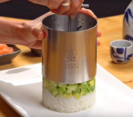 Sushi Tower Kit Lets You Make Towers Of Rice and Sushi