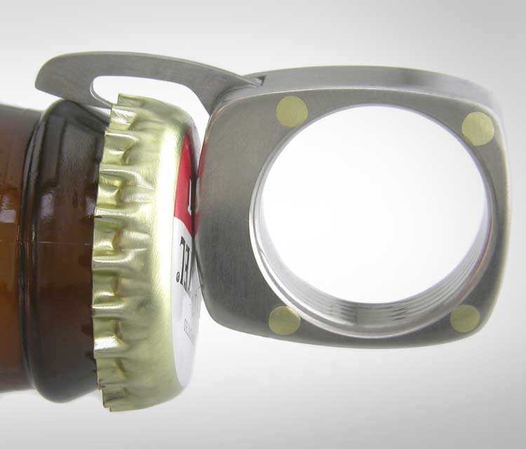 Swiss Army Ring - The Man Ring Utility Ring With blades, knives, bottle opener, and comb