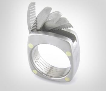 This Swiss Army Ring Has a Tiny Blade, Mustache Comb, and Bottle Opener