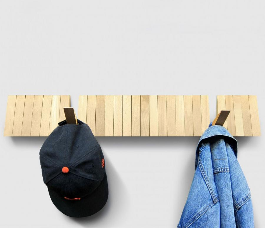 Switchboard A Sleek Wooden Coat Rack With 25 Optional Hooks
