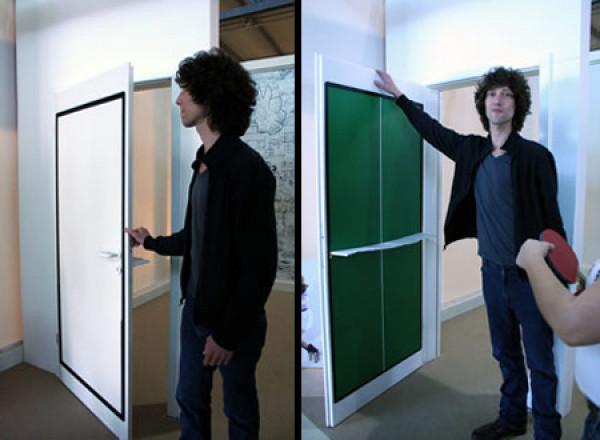 Table Tennis Door Door That Folds Down Into A Ping Pong