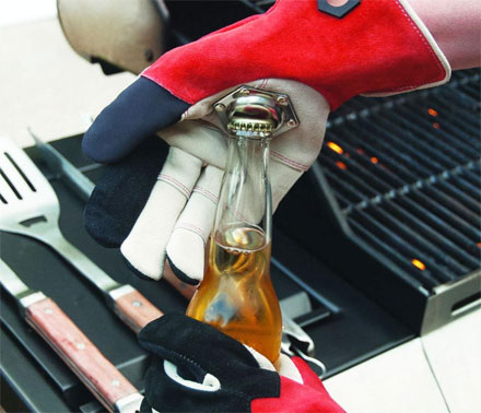 Tailgating Gloves With a Bottle Opener On The Palm