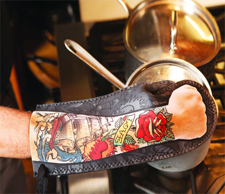Tattooed Arm Oven Mitt