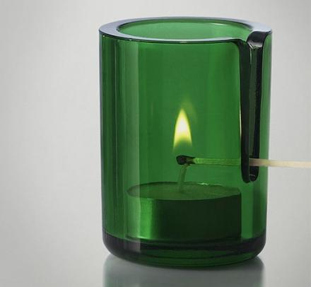Tealight Candle Holder With Match Slot