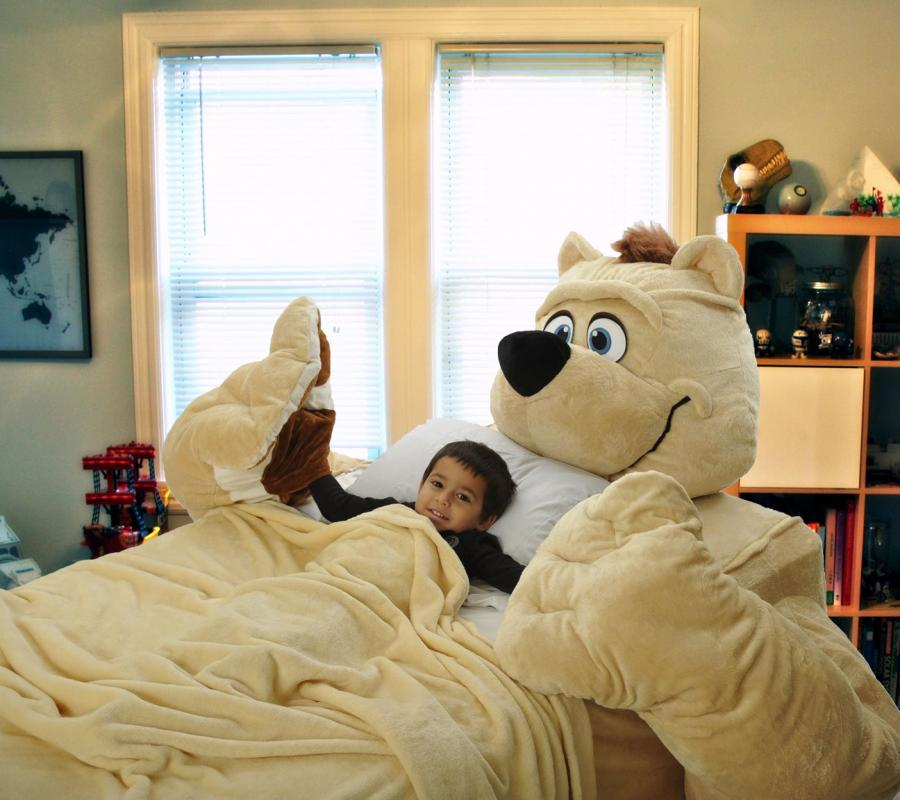 Giant Teddy Bear Bed Fitted Bed Sheets