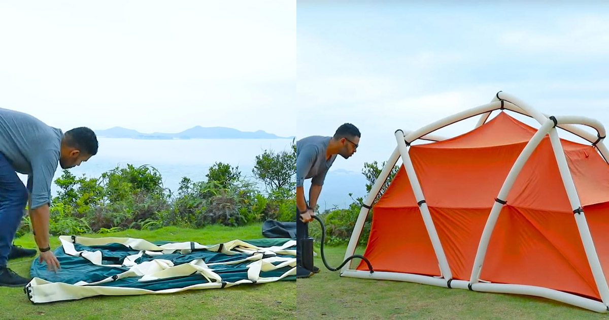 TentTube Inflatable Tent Sets Up In Seconds