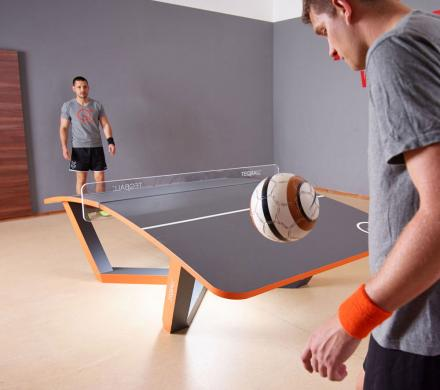 TEQBALL: A Curved Ping Pong Table That You Play With a Soccer Ball