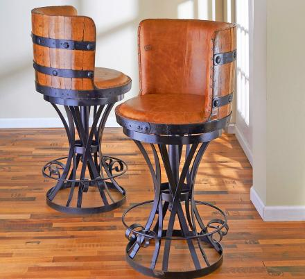 These Incredible Tequila Barrel Bar Stools Are Perfect For Any Home Bar