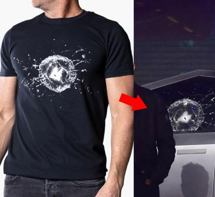 Tesla Is Now Selling a T-Shirt Made To Look Like The Cracked Cybertruck Window