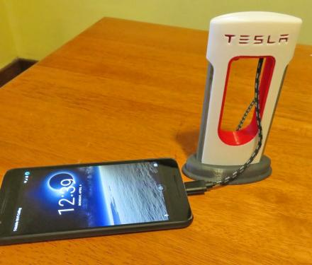 Tesla Phone Charger - Mini Tesla Supercharging Station