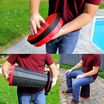 This Incredible Retractable Stool Collapses Down To Just 2.5 Inches