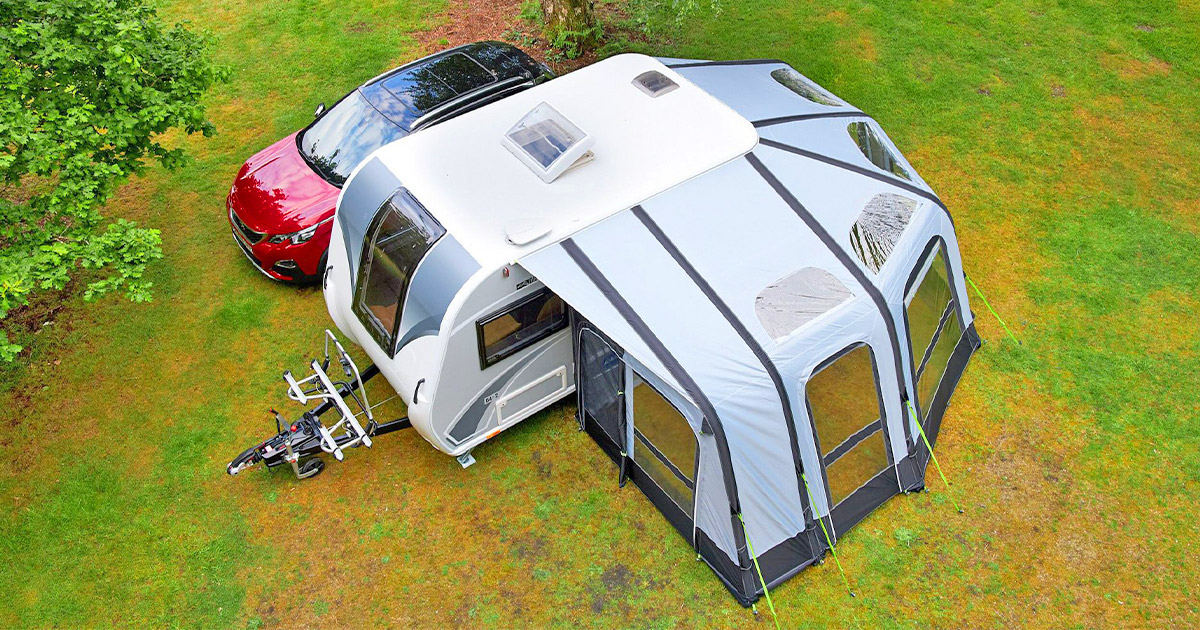 The Bailey Discovery D4-2 Camper Trailer Has an Inflatable Enclosed Awning