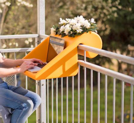 The BalKonzept Is An Amazing Work-From-Home Desk That Connects To Your Balcony