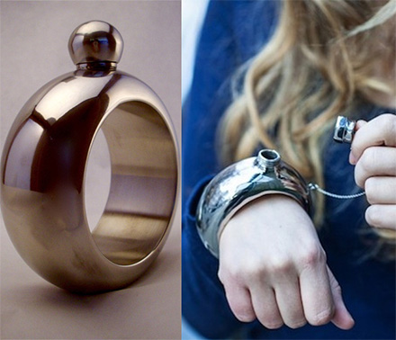 The Bracelet Flask Lets You Hold a Couple of Shots Right On Your Wrist