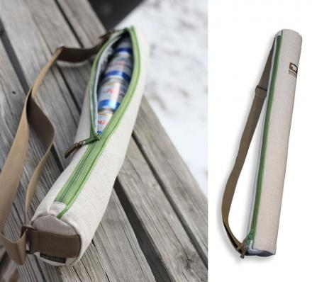 The Cooler Tube is a 6 Pack Shoulder Strap Beer Cooler