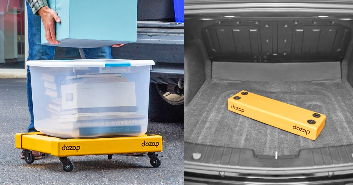 The Dozap Is a Portable Dolly That Collapses Down To Practically Nothing