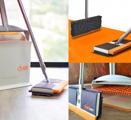 This Brilliant All-in-One Mop, Broom, and Dustpan Has a Self Cleaning Chamber