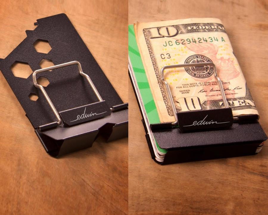 the edwin wallet is a multitool wallet with a bottle opener