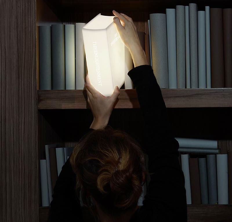 The Enlightenment Lamp A Book Shaped Light