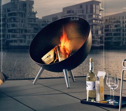 The Fireglobe Is a Classy One-Way Outdoor Fireplace
