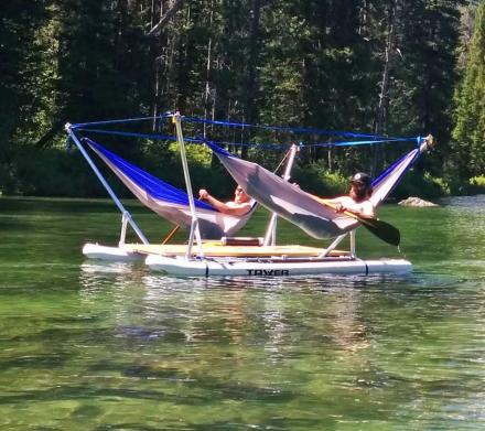This Hammock Boat Lets You Relax In Up To 4 Hammocks While