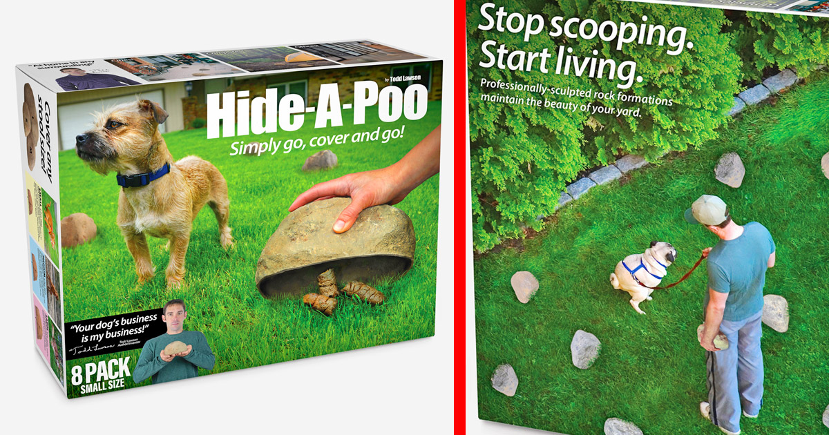 The Hide-a-Poo Fake Rock Lets You Hide Your Dogs Poop Instead Of Picking It Up