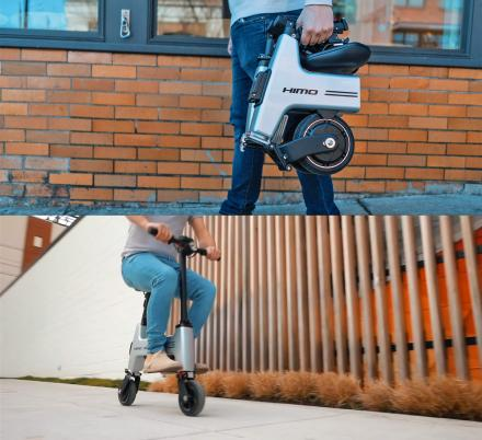 The HIMO Folding E-Bike Collapses Down To Fit In Your Backpack
