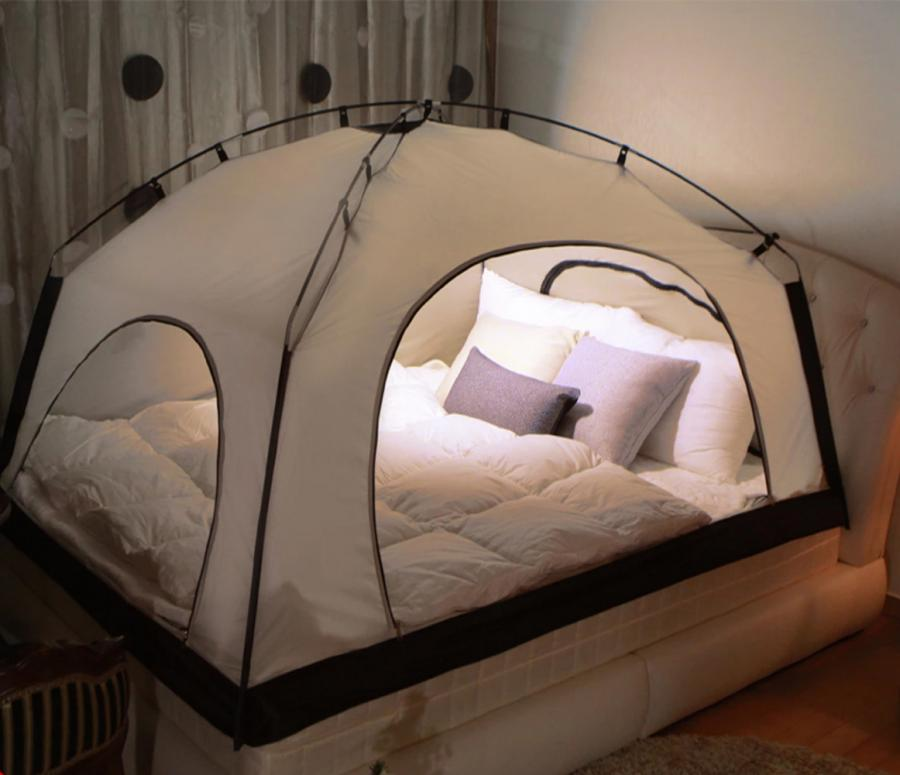 Hate the outdoors but love the idea of sleeping in a tent? The iK&er is a tent that attaches right to your mattress so you can feel like your in the tough ... & The iKamper Room In Room Is A Tent For Your Mattress
