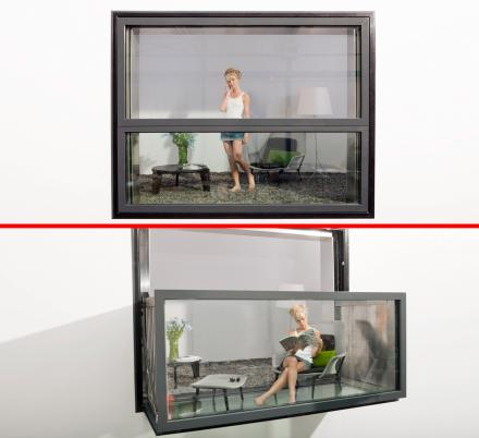 The Innovative Bloomframe Window Balcony Converts From Window To Balcony In Seconds
