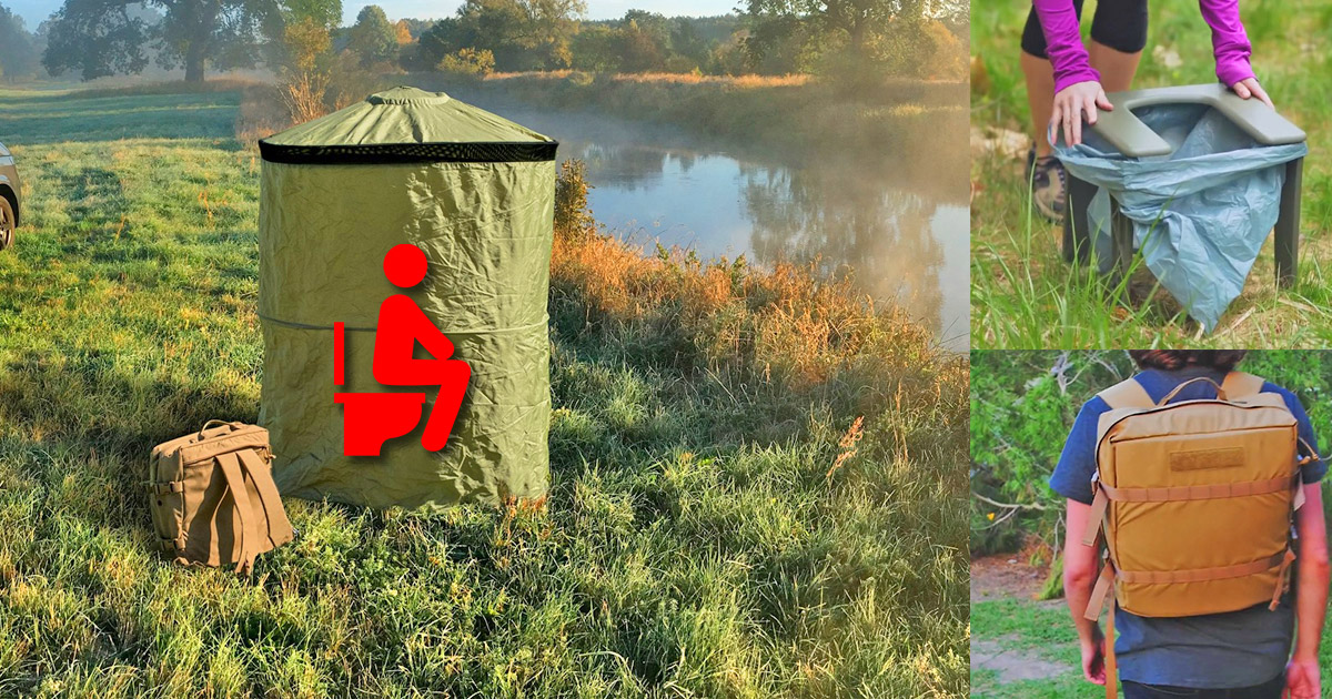 The InstaPrivy Is an Incredible Portable Toilet That You Can Wear Like a Backpack
