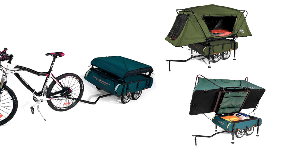 The Kamp-Rite Midget Bushtrekka Is a Tiny Camper Tent That You Can Pull With Your Bicycle