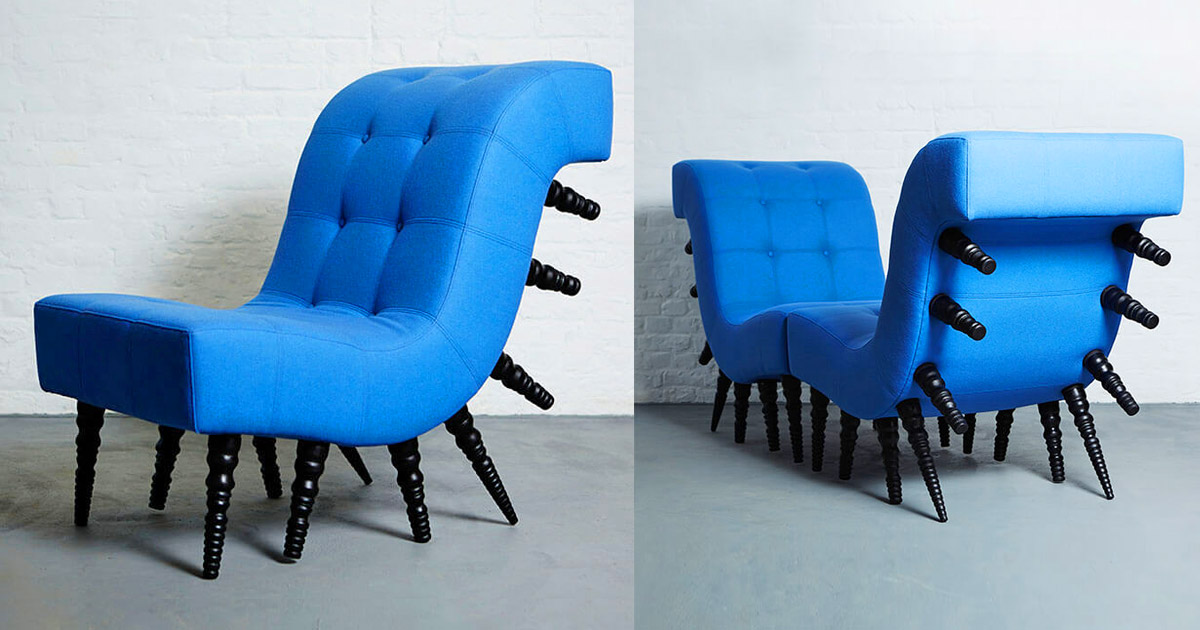 This Incredible Millipede Chair Gives Your Home a Creepy, Dark, Yet Awesome Look