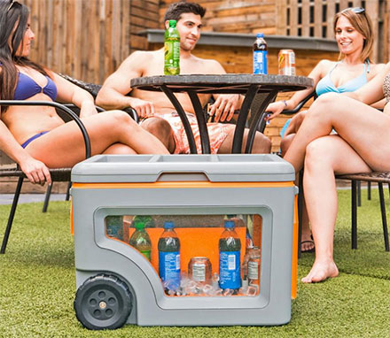 The Naked Cooler Is a Cooler That Has Windows To See What's Inside