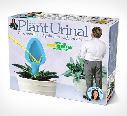 The Plant Urinal Allows You To Pee Right Into Your Plants, Perfect For at Home Or The Office