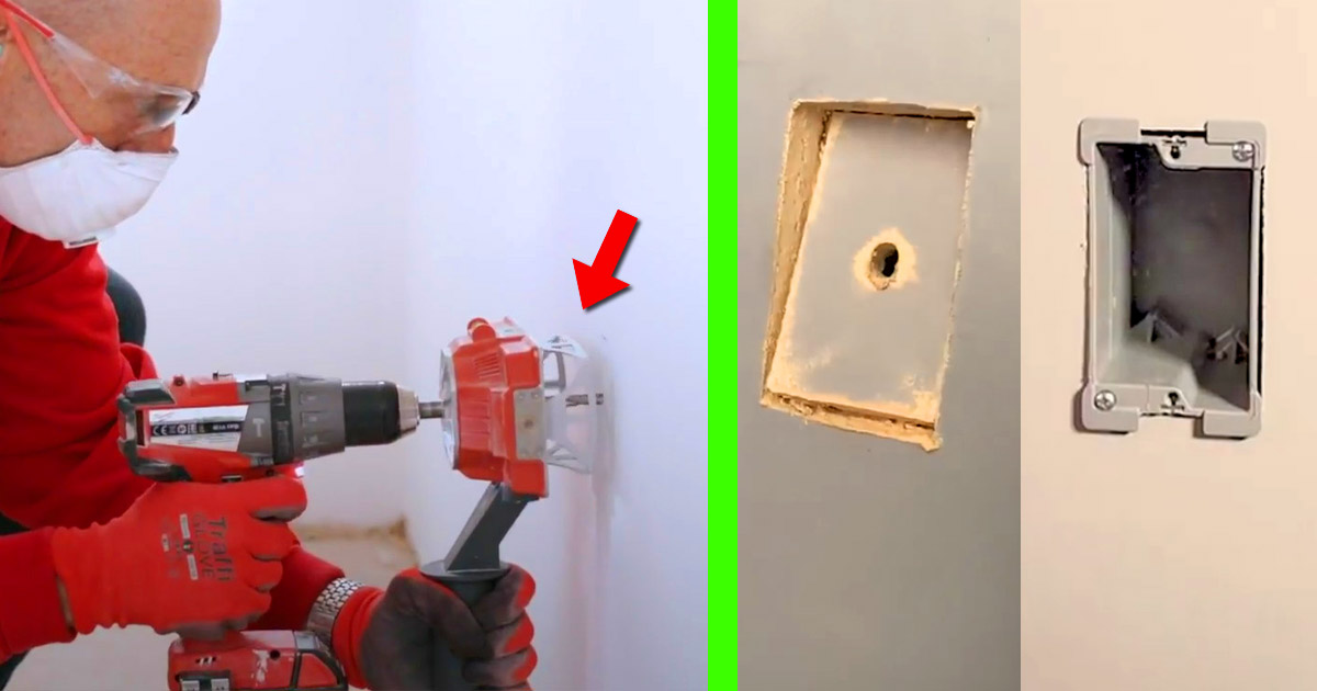The Quadsaw Allows You To Drill Outlet Holes Into Drywall In Under 10 Seconds