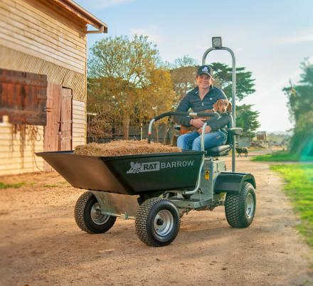 The Rat Barrow Is The World's First Ride-On Motorized Wheelbarrow