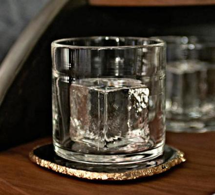The Rocks Cube Glass: A Whiskey Glass With a Solid Glass Cube In It