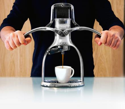 The ROK Manual Espresso Maker Uses No Electricity At All