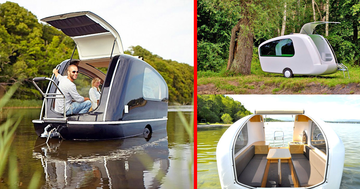 The Sealander Is a Compact Camper Trailer That Doubles as a Boat