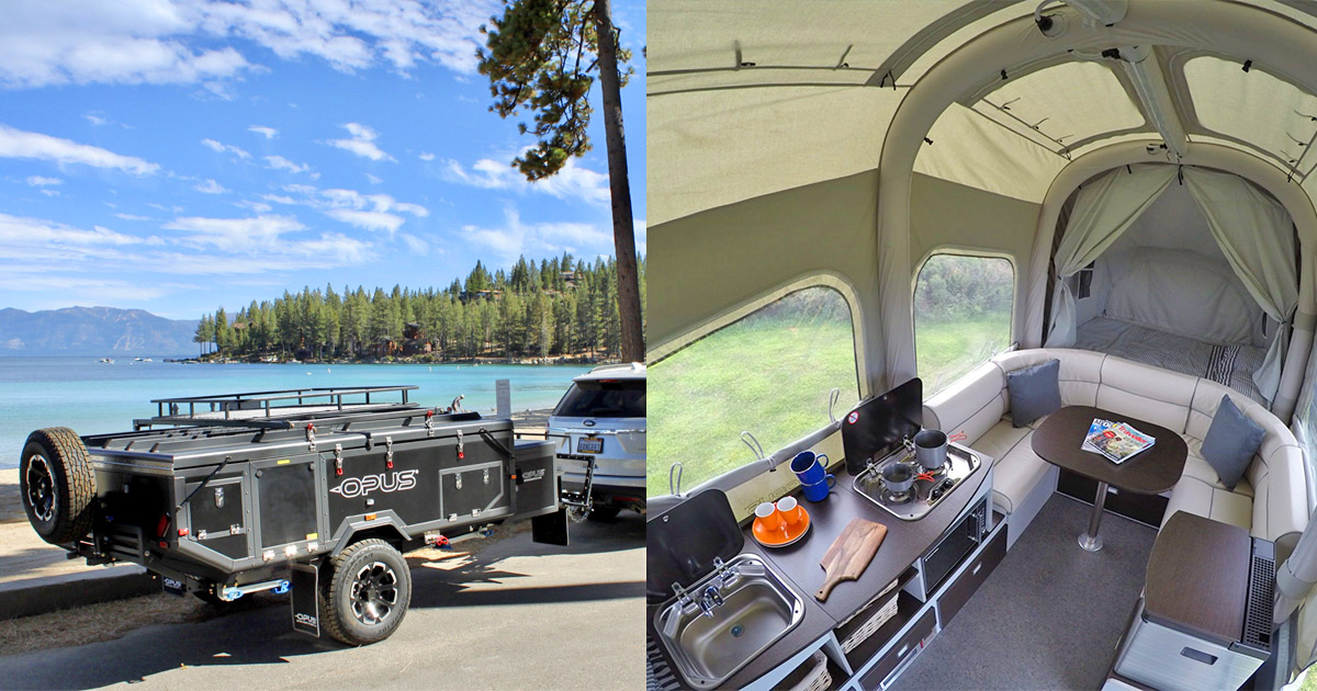 The Self-Inflating Air-Opus Trailer Auto Expands To 121 Square Feet of Camping Space