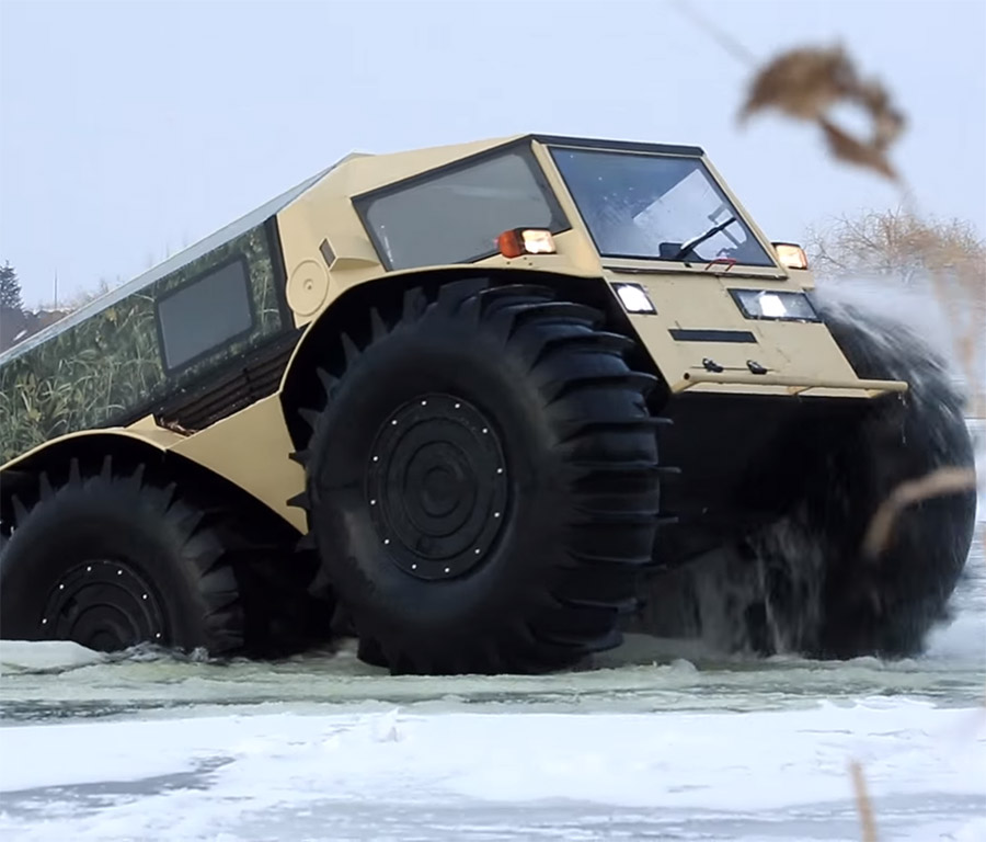 The Sherp: A Russian All-Terrain Vehicle That\'s Pretty Much Unstoppable